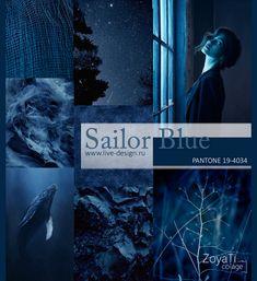 Sailor blue Blue Palette, Colour Pallette, Colour Schemes, Color Trends, Image Coach, Deep Winter Colors, Sunrise Colors, Little Boy Blue, 2018 Color
