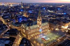 Picture titled Hamburg Rathaus from Above from our Hamburg, Germany photo gallery. Check out this and 15 other pictures of Hamburg. Cities In Germany, Cities In Europe, Visit Germany, Travel Europe, Germany Travel, Hamburg Germany, Munich, Town Hall, Oh The Places You'll Go