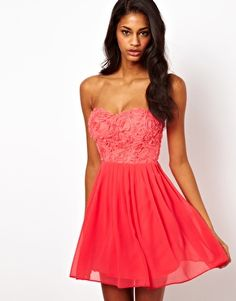 coral dress<3  Get 7% cash back at http://www.studentrate.com/all/get-all-student-deals/ASOS-Student-Discount--/0