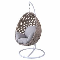 Nouveau Hanging Egg Chair with Base - Loungers Restaurant Tables And Chairs, Cafe Chairs, Lounge Chairs, Hanging Egg Chair, Ergonomic Computer Chair, World Market Dining Chairs, Recycled Plastic Adirondack Chairs, Chairs For Sale, Occasional Chairs