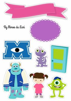 Monsters Inc Baby, Monsters Ink, Monster Inc Party, Monster Birthday Parties, 2nd Birthday, Birthday Cards, Monster University Party, Baby Clip Art, Disney Images