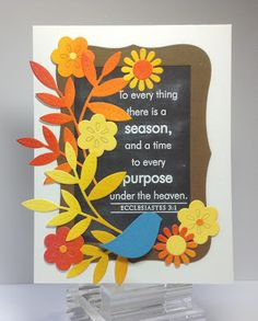 Crafting While I Wait: To Everything There Is A Season