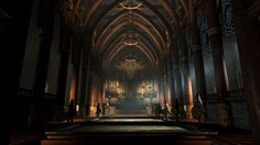 Medieval Fantasy Throne Room Art 6