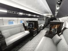 Stunning interior for a Private Jet