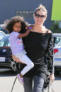 Heidi Klum and daughter.