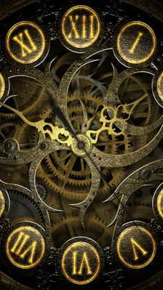 Clock Mechanism Steampunk Lockscreen HD Android and iPhone Wallpaper Background and Lockscreen