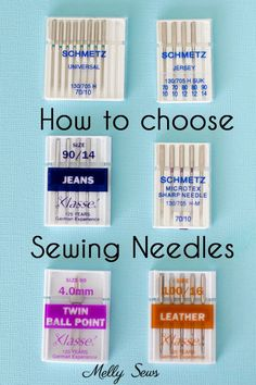 How to choose sewing needles; a guide on how to find the right sewing needles for your sewing project How to choose sewing needles; a guide on how to find the right sewing needles for your sewing project Sewing Basics, Sewing Hacks, Sewing Tutorials, Sewing Crafts, Sewing Tips, Sewing Ideas, Basic Sewing, Sewing Machine Basics, Serger Sewing