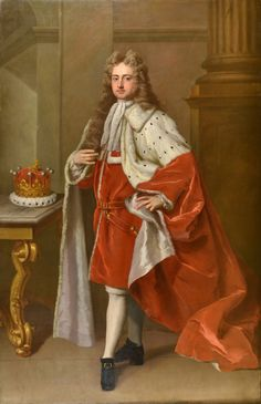Dahl. Michael - Portrait of Lionel Cranfield Sackville 1st Duke of Dorset (1688 – 1765) KG PC Lord Lieutenant of Ireland, then 7th Earl of Dorset and 2nd Earl of Middlesex . c.1714  1659-1743.