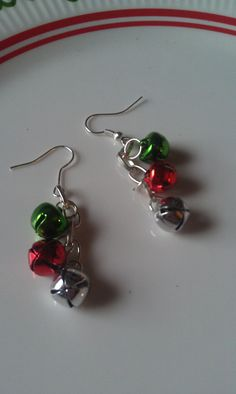 Jingle Bell Christmas Earrings/Christmas Jewelry by MyMetalHeart, $6.50