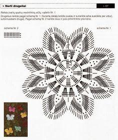Horgolás minden mennyiségben!!!: Horgolt pillangó minták