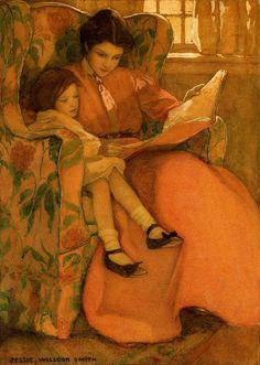 Jessie Willcox Smith, A Rainy Day, 1908