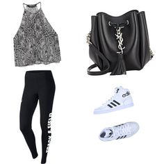 Untitled #143 by sophia-solzbacher on Polyvore featuring polyvore мода style Zara NIKE adidas Originals Yves Saint Laurent