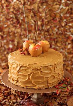 Caramel Apple Cake | SugarHero.com..... YUM!!!