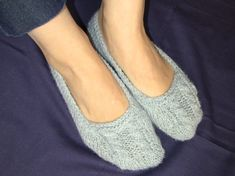 Knit slippers / Warm Socks / Knitted Footies by danielastange, $21.50