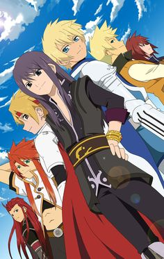 Cress, Kratos, Luke, Guy, Asch, Yuri, and Flynn