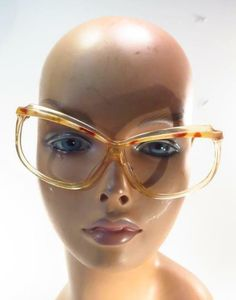 88bf7ba1cc Details about 60s Vintage PinUp MIRA Cat Eye Gradient OMBRE Demi Clear Lens  Eyeglasses Frames