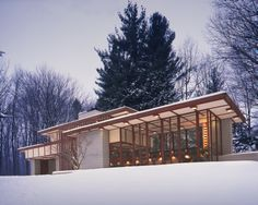 Willoughby Hills, OH, 2203 River Road, Frank Lloyd Wright, Architect - The Louis Penfield House, 1955