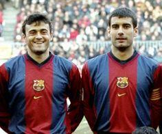 Luis Enrique y Pep Guardiola