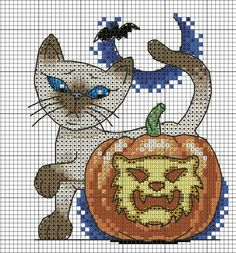 Cross Stitch Chats Halloween