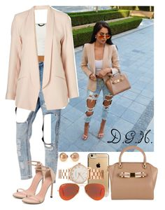 """""""Nudes."""" by dopegenhope ❤ liked on Polyvore featuring Marc by Marc Jacobs, Ted Baker, Ray-Ban and Stuart Weitzman"""