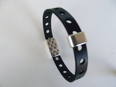 Perforated bracelet perforated leather wristband leather simple friendship plain bracelet jewellery online jeans jewelry fathers day idea