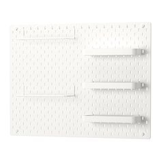 IKEA SKÅDIS Pegboard combination White 76 x 56 cm You can use SKÅDIS pegboard and accessories to display your favourite things while keeping your home organised.
