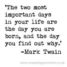 Important days- mark twain