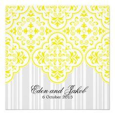 18 Best Yellow Wedding Invitation Kits Images On Pinterest Yellow