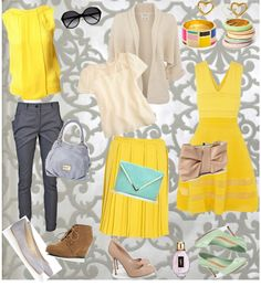 """""""What About Yellow..."""" by silvanacasalins81 on Polyvore"""