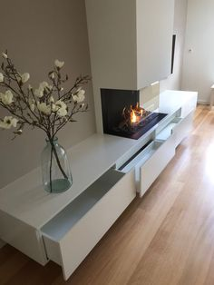 Hottest Screen Contemporary Fireplace open Tips Modern fireplace designs can cov. : Hottest Screen Contemporary Fireplace open Tips Modern fireplace designs can cover a broader category compared with their contemporary counterparts. Living Room Tv Wall, Home Fireplace, Living Room Decor Fireplace, Fireplace Design, Living Room With Fireplace, Living Room Designs, Fireplace Remodel, Contemporary Fireplace, Home Deco