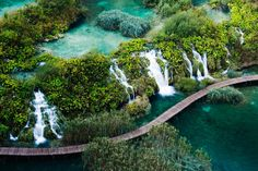 Croatia's national parks are a beautiful alternative to its Dalmatian coast. Libby Brooks went inland to see lakes, canyons and get a glimpse of the country's wild bears