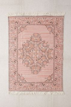 Slide View: 1: Stina Floral Space Dyed Printed Rug