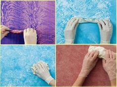 DIY - wall painting technique, venetian plaster faux finish
