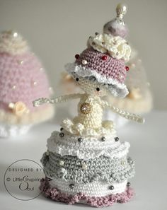 Cupcake doll  ENGLISH PDF digital crochet pattern  crochet