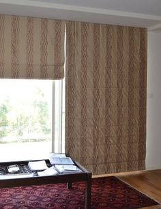 roman blinds split in two for sliding doors