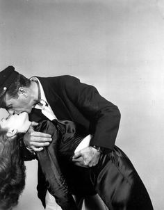 "Bogie & Bacall in ""To Have and Have Not"", 1944."
