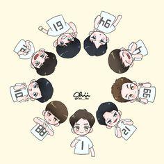 Exo Anime, Anime Chibi, Sehun And Luhan, Chanyeol, Exo Cartoon, Exo Stickers, Chibi Wallpaper, Exo Lockscreen, Exo Fan Art