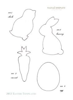 felt easter patterns free | Free+Printable+Easter+