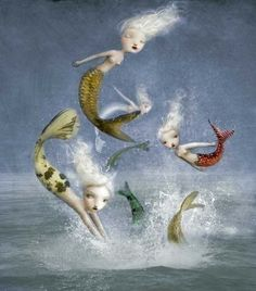 Image uploaded by erikitty. Find images and videos about mermaids, pop surrealism and nicoletta ceccoli on We Heart It - the app to get lost in what you love. Mythical Creatures, Sea Creatures, Sirens, Illustrations, Illustration Art, Sea Siren, Water Nymphs, Mermaid Tale, Mermaids And Mermen