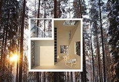 Interior of invisible tree house