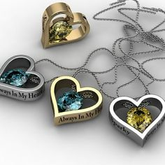Heart Pendants with Chain by Paul Michael Design. I want one with a Diamond!