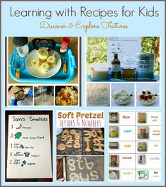 Learning with Recipes for Kids: Lots of fun ways to incorporate learning into cooking with kids!