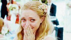 Amanda Seyfried emocionada