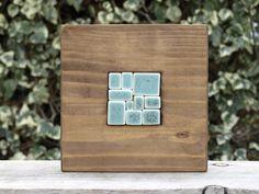 Mini mural de cerámica y madera Mosaico de por OlgaSanchezCeramista, €39.00