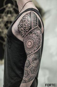 Mandala Sleeve Tattoo