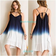 🔻clearance🔻Ombre style dresses Gorgeous fully lined navy ombre flowy style dress. Price is firm unless bundled. S(2/4) M(6/8) L(10/12) Dresses