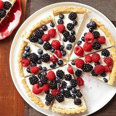 Berry Tart with Lemon Cookie Crust- 4th of July desserts that sparkle!