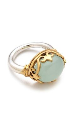 """wish it was chalcedony instead of this """"mint onyx"""" - most likely man made stone  push BY PUSHMATAaHA  The Small Monarch Ring $139"""