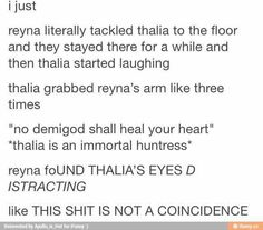 mainly theyna and solangelo Percy Jackson Ships, Percy Jackson Fan Art, Percy Jackson Memes, Percy Jackson Books, Percy Jackson Fandom, Solangelo, Percabeth, Thalia Grace, Trials Of Apollo