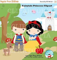 50% OFF SALE Fairytale Princess Digital Clipart by ClipArtopia